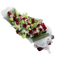 백합흑장미 꽃다발