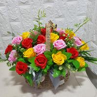 비누꽃바구니(평택꽃바구니#송탄꽃바구니 한정배송상품)
