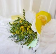 후리자아 꽃다발