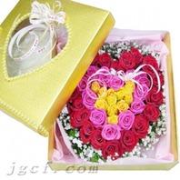 하트3색꽃상자
